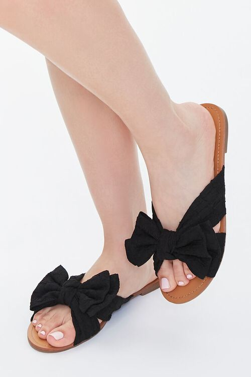 Dual Bow Flat Sandals, image 1