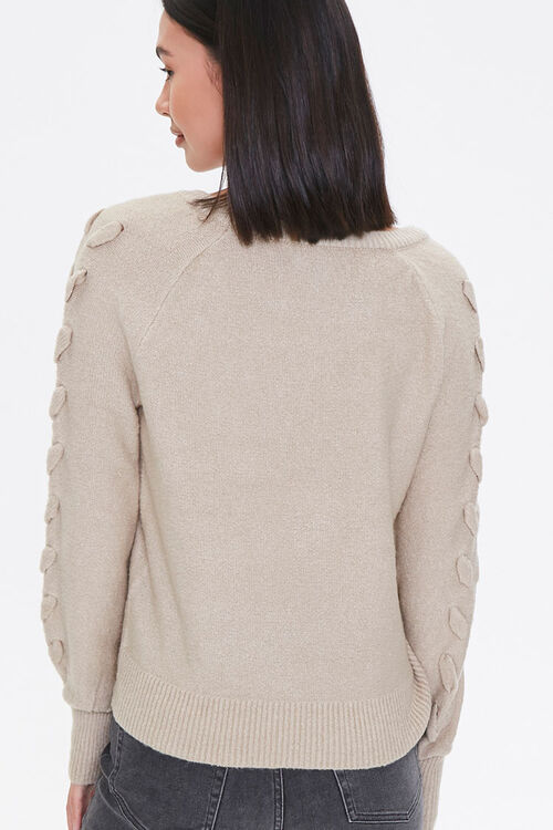 Lace-Up Sleeve Sweater, image 3