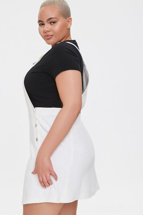 CREAM Plus Size Denim Overall Dress, image 2