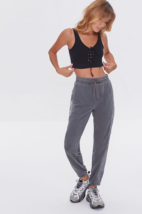 CHARCOAL Side-Striped Joggers, image 1