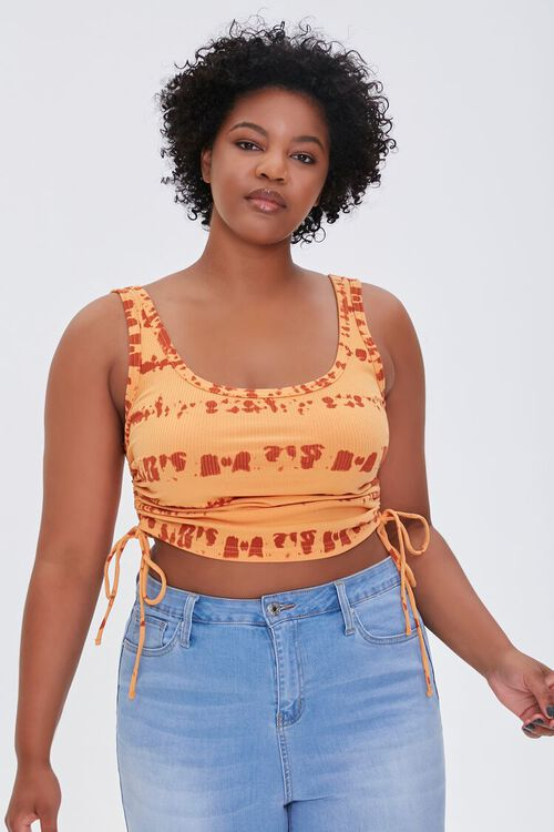 Plus Size Ruched Drawstring Top, image 1