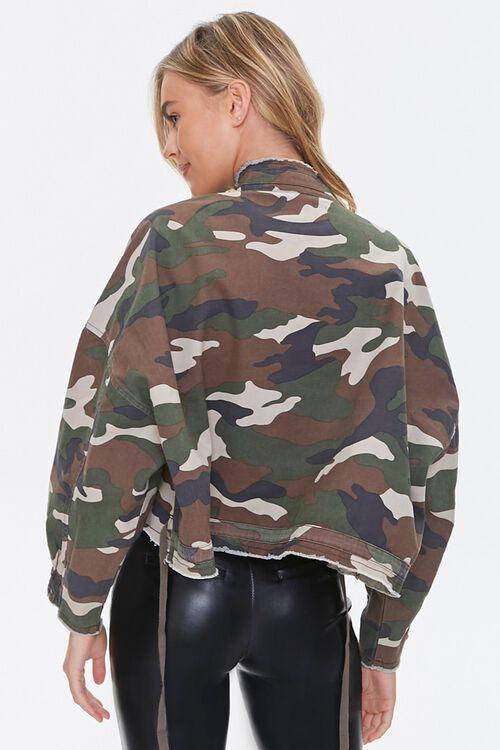 OLIVE/MULTI Frayed Camo Print Jacket, image 3