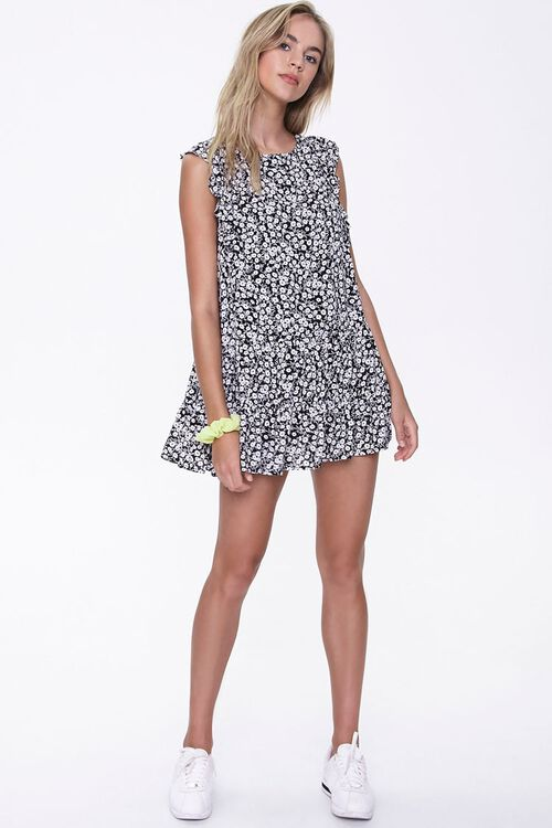 Floral Print Mini Dress, image 4