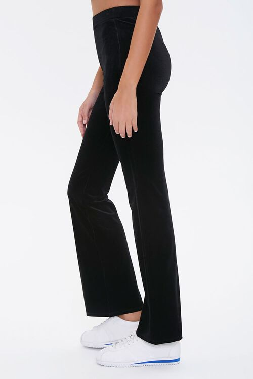 BLACK Flare-Leg Velvet Pants, image 3