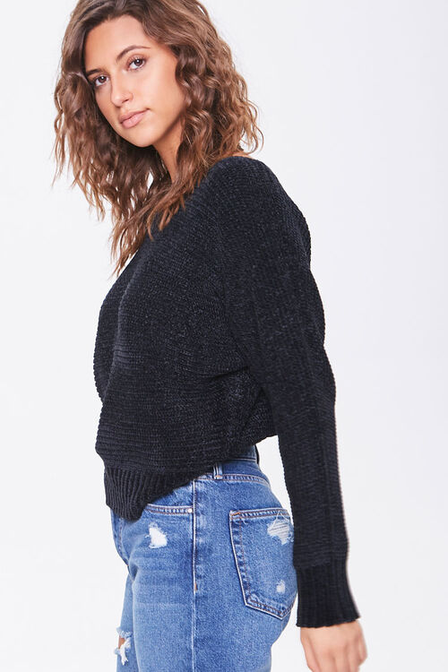 Chenille Boat Neck Sweater, image 2