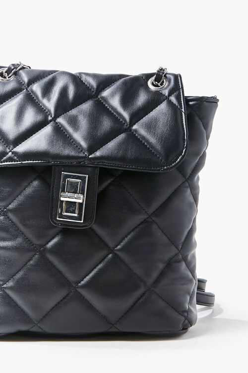 Quilted Faux Leather Backpack, image 4