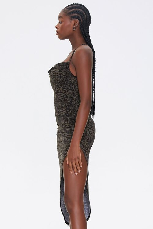 Snake Print Cowl Dress, image 2