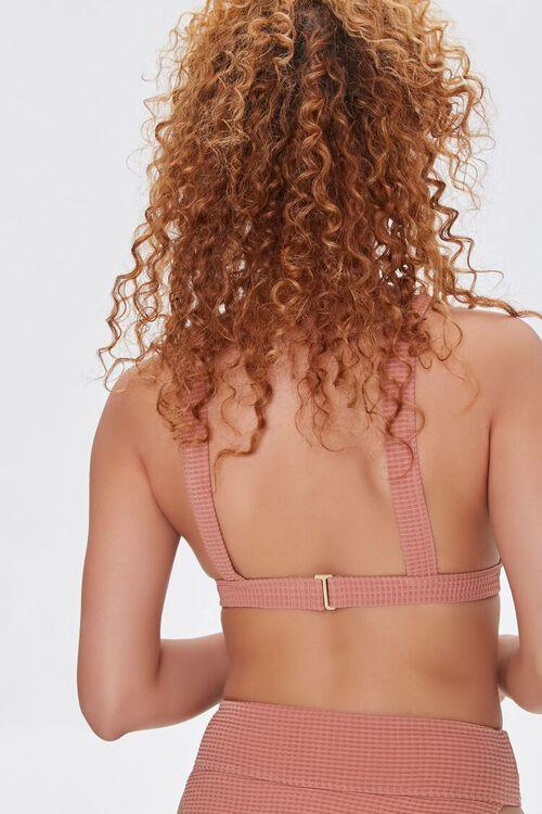 Waffle Knit Triangle Bikini Top, image 3