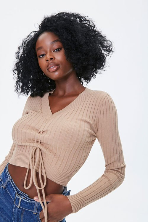 Sweater-Knit Crop Top, image 1