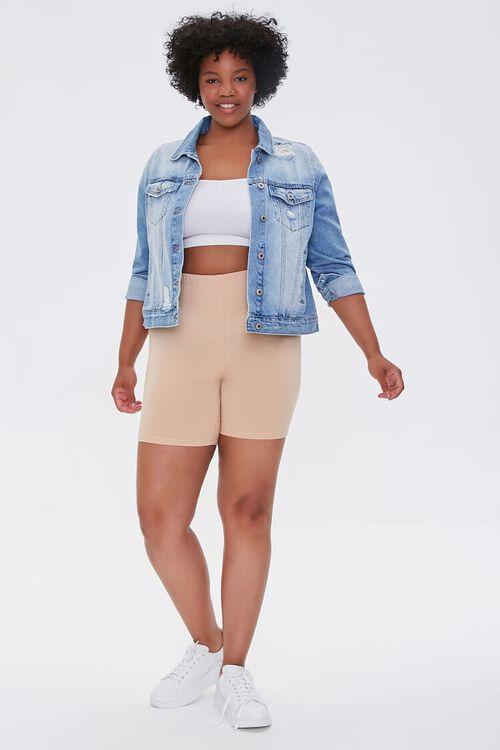 Plus Size Basic Biker Shorts, image 5