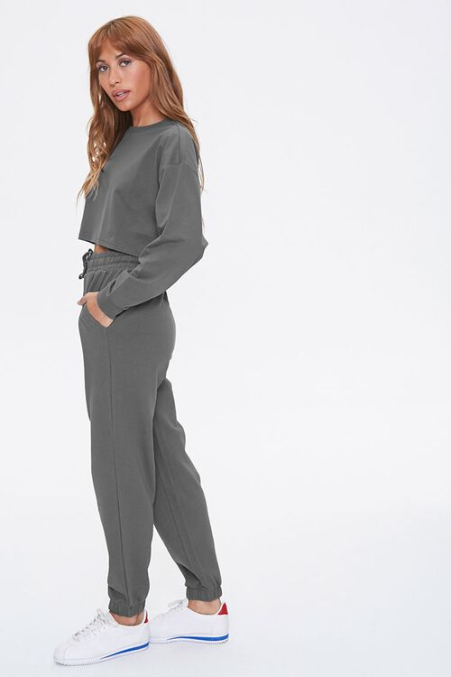 Drop-Sleeve Top & Joggers Set, image 2
