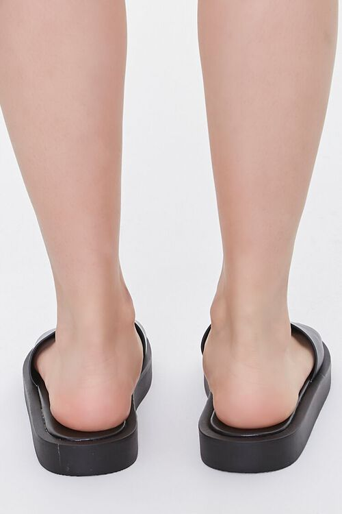 Faux Leather Flatform Sandals, image 3