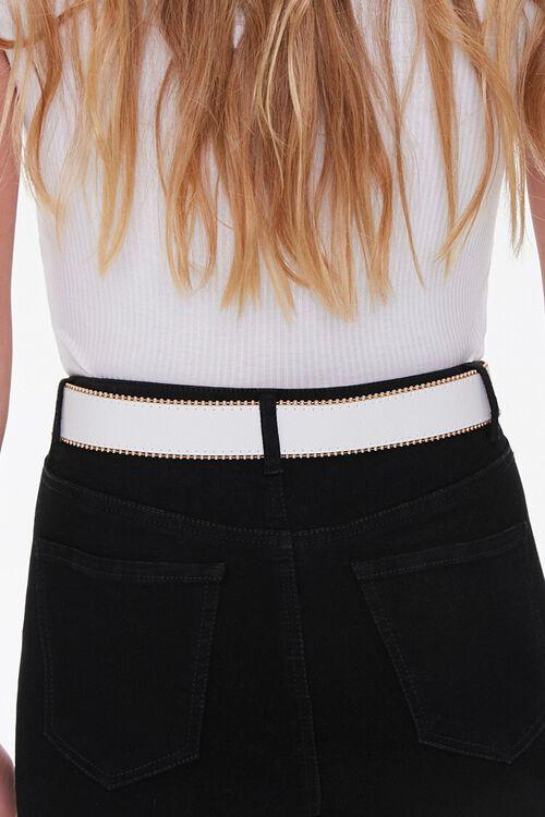 WHITE/GOLD Studded Hip Belt, image 3