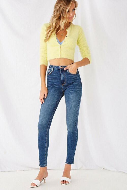 DARK DENIM The Fairfax Super Skinny High-Rise Jeans, image 5