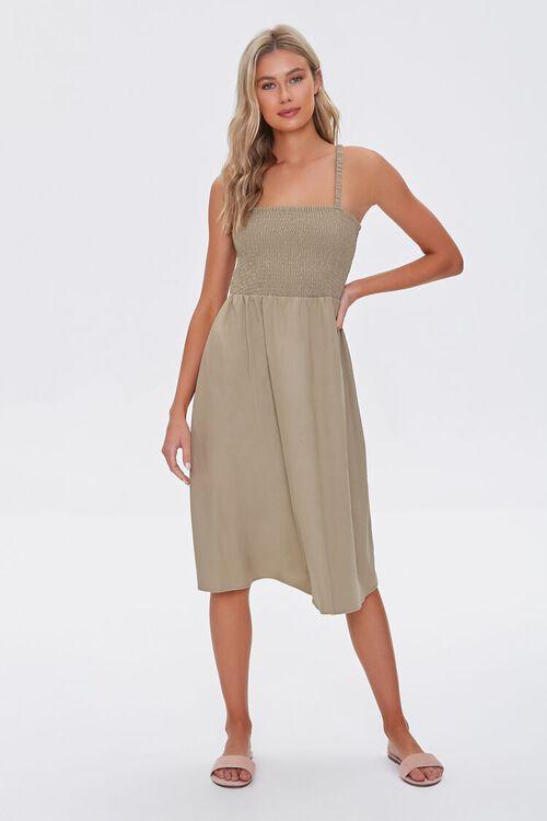 Smocked Caged-Back Dress, image 4
