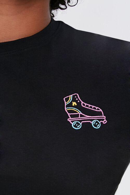 Plus Size Moxi Skates Embroidered Graphic Tee, image 5