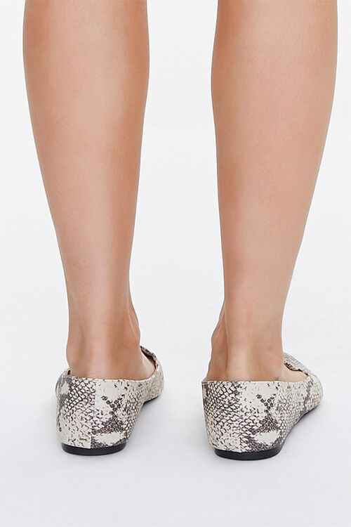 TAUPE/MULTI Pointed Snake Print Loafers, image 3