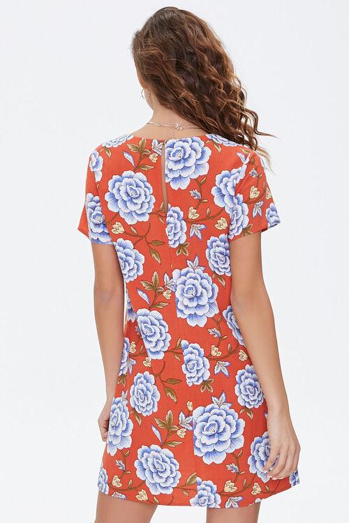 Floral Print Mini Shift Dress, image 3