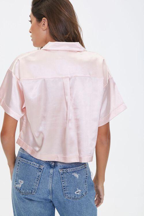 Cropped Satin Shirt, image 3