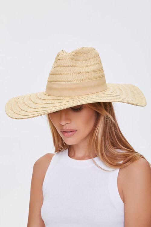 Faux Straw Panama Hat, image 1