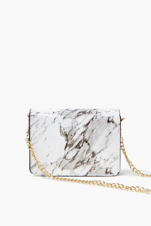 Marbled Flap-Top Crossbody Bag, image 3