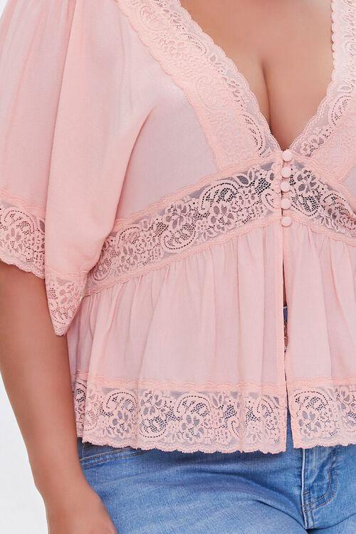 Plus Size Lace-Trim Top, image 5