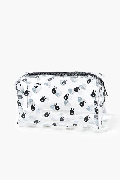 CLEAR/MULTI Yin Yang Print Square Pouch, image 1