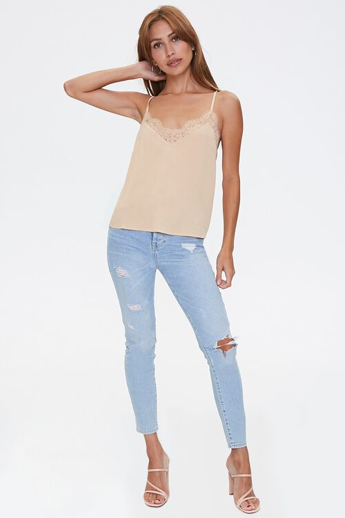 MUSTARD Relaxed Lace-Trim Cami, image 4