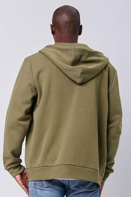 OLIVE Fleece Zip-Up Hoodie, image 3