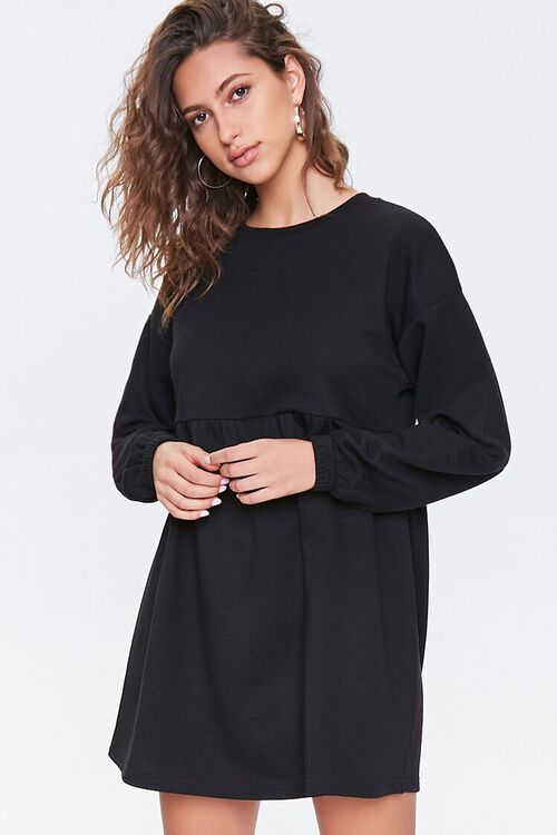 Fleece Drop-Sleeve Mini Dress! .20 (REG .00) with code EXTRA15 at Forever 21!