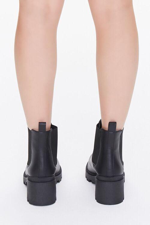 BLACK Faux Leather Chelsea Boots, image 3