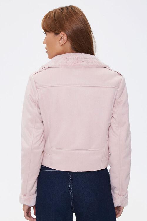 Faux Fur-Trim Moto Jacket, image 3