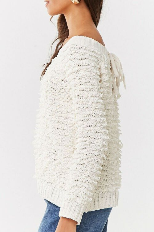 CREAM Off-the-Shoulder Loop-Knit Sweater, image 2