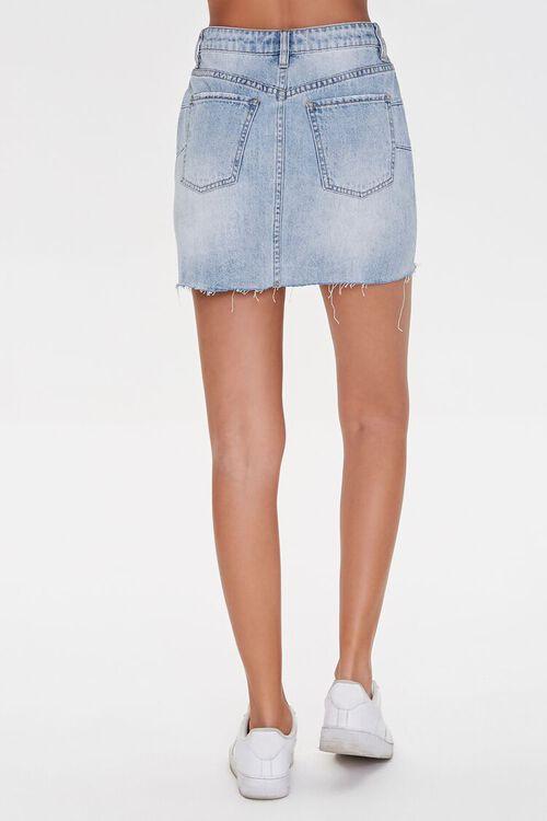Distressed Denim Mini Skirt, image 4