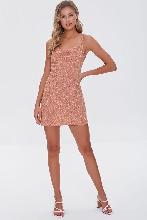 BROWN/MULTI Ditsy Floral Print Dress, image 4