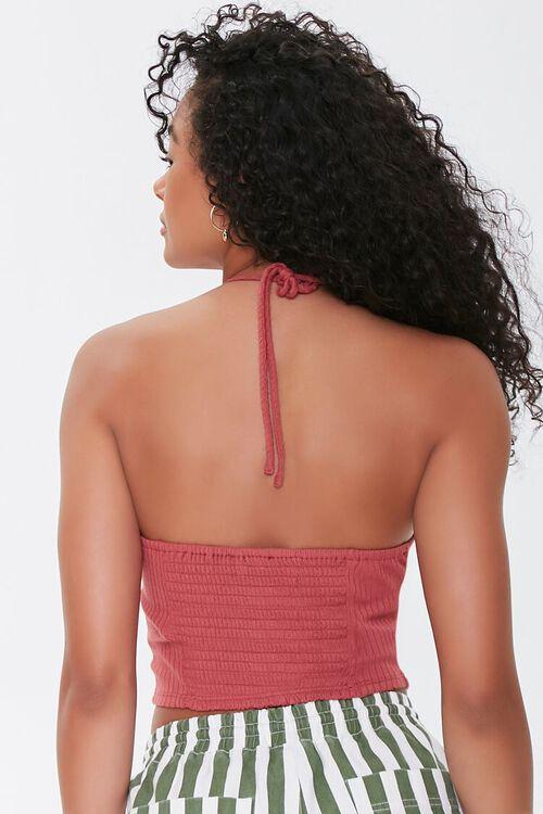 Ribbed Knit Halter Top, image 3