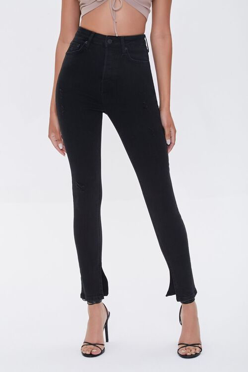 Premium High-Rise Skinny Slit Jeans, image 3