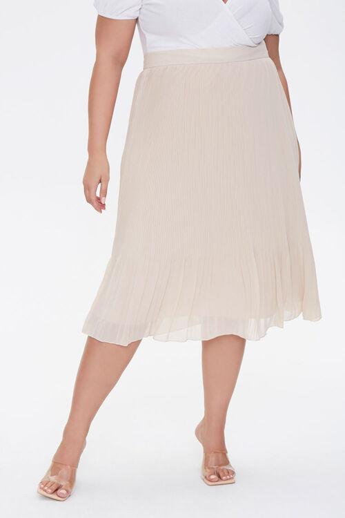 Plus Size Flowy Midi Skirt, image 2