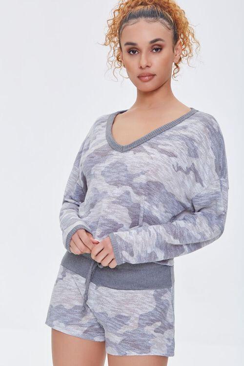 Camo Print Pajama Top, image 2