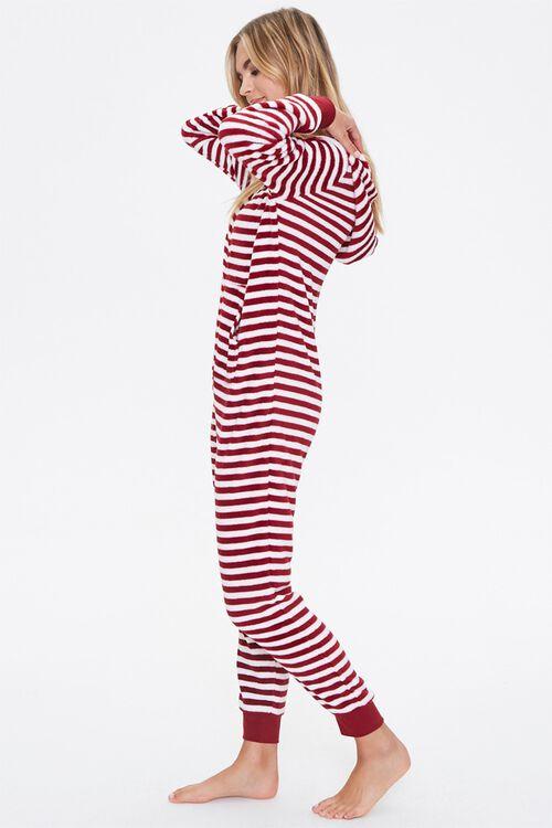 Striped Hooded Pajama Jumpsuit, image 2