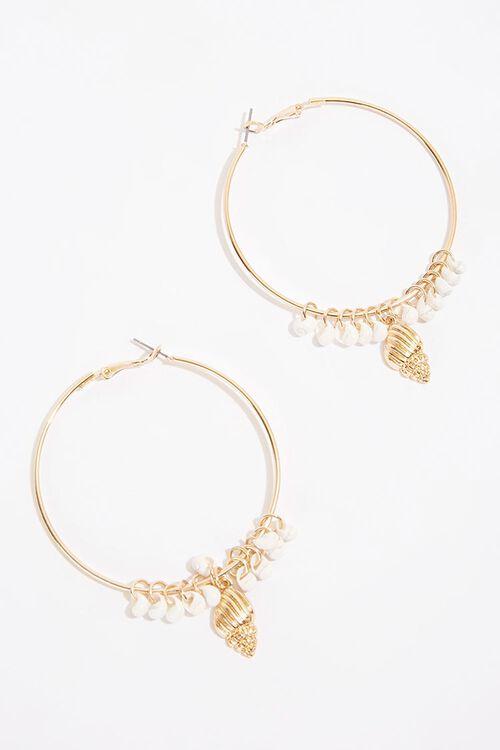 Seashell Hoop Earrings, image 1