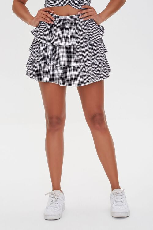 Gingham Tiered Skirt, image 2