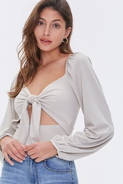 Knotted Cutout Bodysuit, image 6