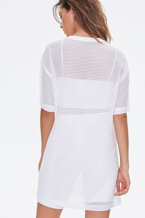 Shadow-Striped T-Shirt Dress, image 3