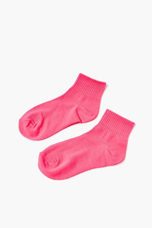 Ribbed-Trim Quarter Socks, image 2