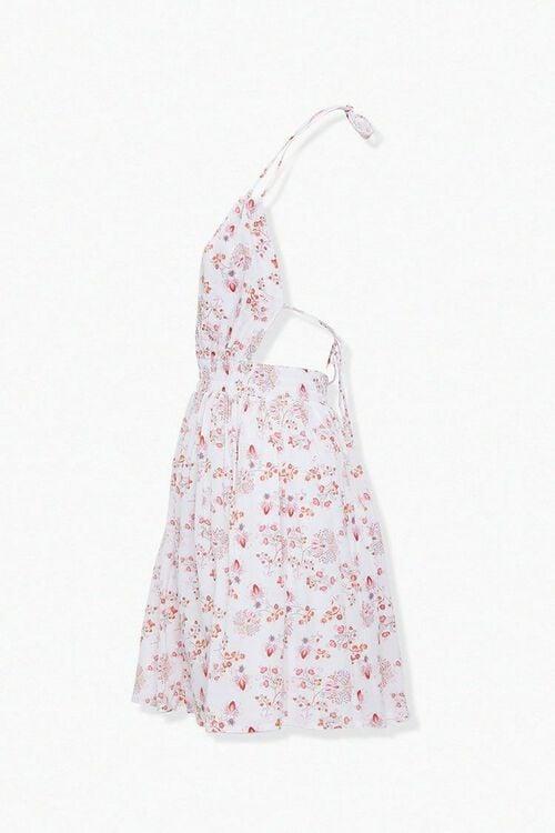 CREAM/MULTI Crinkled Floral Halter Dress, image 2