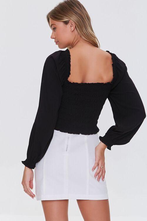 BLACK Off-the-Shoulder Crop Top, image 3