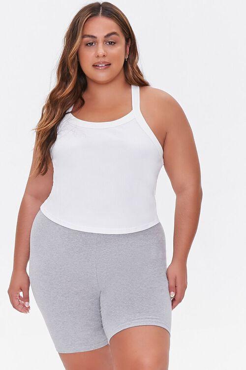 Plus Size Basic Organically Grown Cotton Biker Shorts, image 6