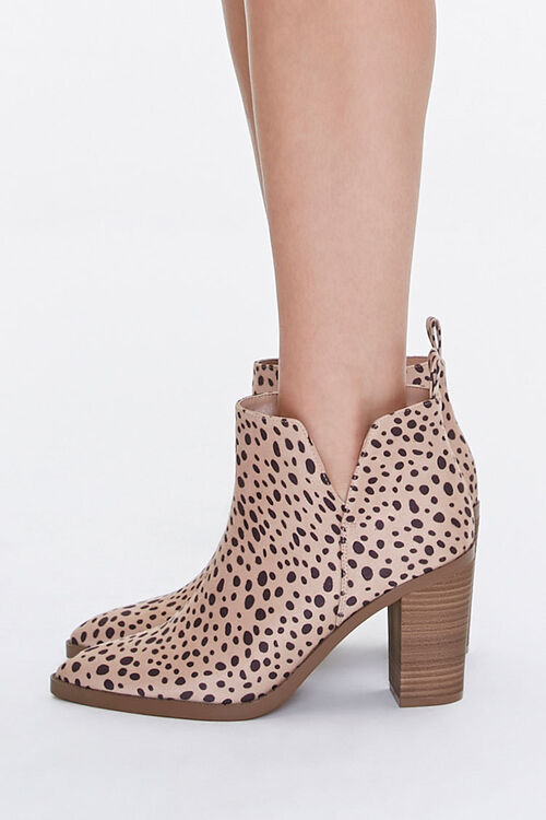 Cheetah Stacked Heel Booties, image 2