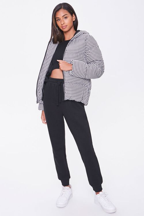 Hooded Houndstooth Puffer Jacket, image 4
